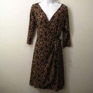 London Times Dresses - London Times Wrap Swirl Dress